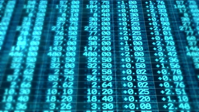 Stock Market Board Moving Seamless Loop Animation video