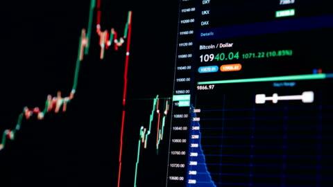 börse chart bitcoin währung wachstum bis zu usd 10000 - investitionen, e-commerce, finanzen-konzept - blockchain stock-videos und b-roll-filmmaterial