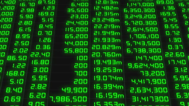 Stock market chart,Stock market data on LED display concept. video
