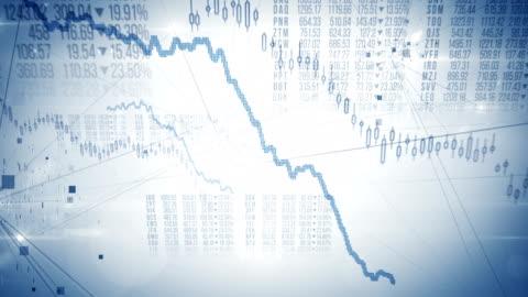 vídeos y material grabado en eventos de stock de mercado bursátil crash / oso mercado (brillante) - lazo - caer
