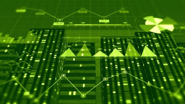 3D Stock Market veri background Animation. Finansal konsept video