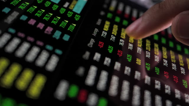 Stock Market Data Trading on Digital tablet