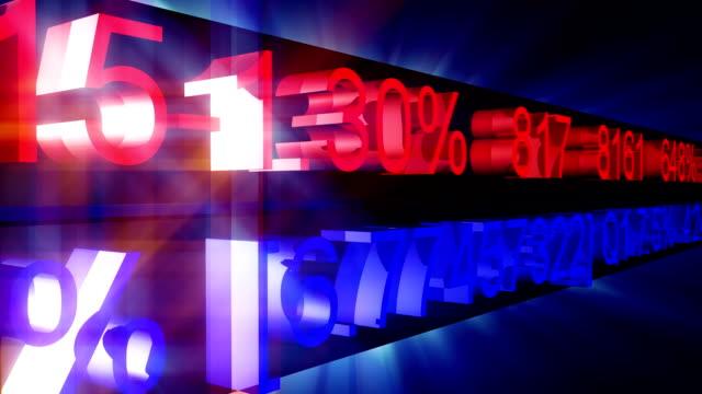 Stock market Zahlen in motion – Video