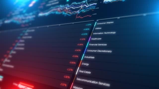 aktienmarkt finanzielle diagramm graph dat - flussdiagramm stock-videos und b-roll-filmmaterial