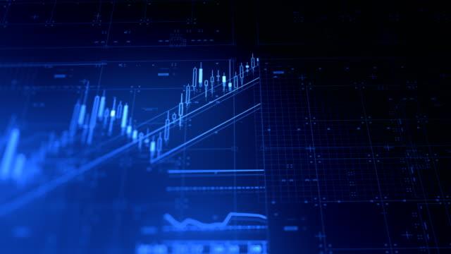 stock market financial data and charts - потеря стоковые видео и кадры b-roll