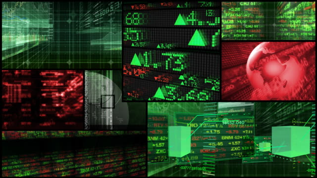 Stock Market & Financial Data Montage video