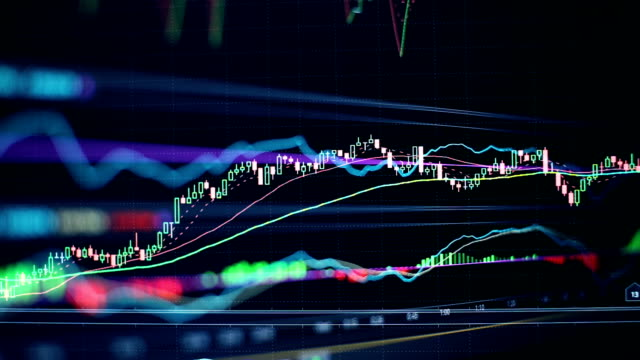 Stock market financial screen business concept