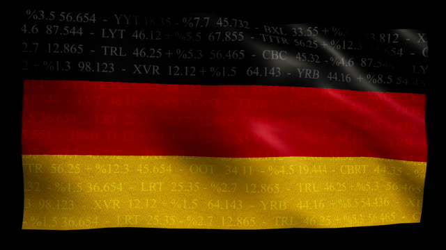 Stock Market Flag of Germany - Alpha and Loop video