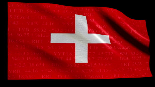 Stock Market Flag of Switzerland - Alpha and Loop video