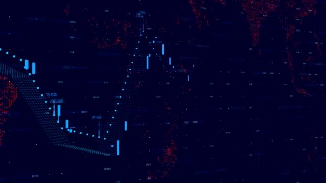stock market graph - центральный район стоковые видео и кадры b-roll