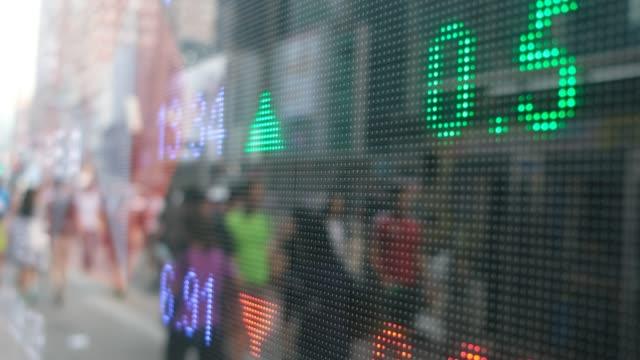 stock market growth on screen - табло котировок стоковые видео и кадры b-roll
