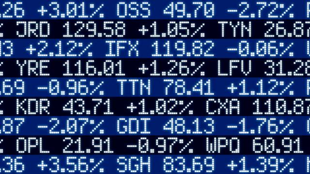 фондовый рынок/петли - табло котировок стоковые видео и кадры b-roll