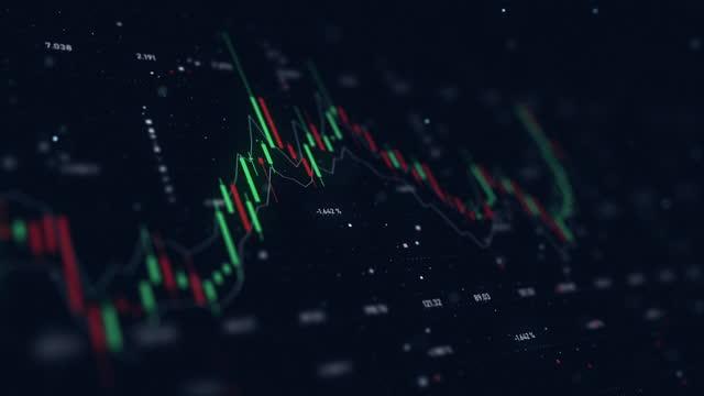oscillatori del mercato azionario - criptovaluta video stock e b–roll