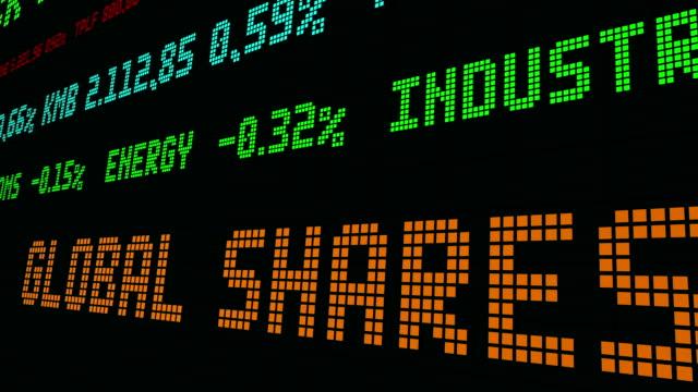 vídeos de stock e filmes b-roll de stock market ticker global shares dropped - nyse crash