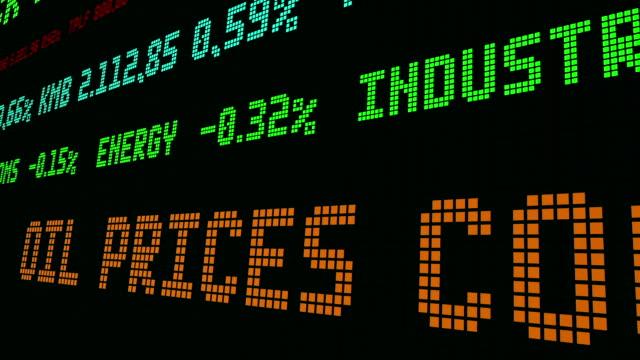 vídeos de stock e filmes b-roll de stock market ticker oil prices  the highest price - nyse crash