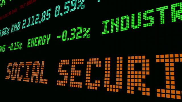 vídeos de stock e filmes b-roll de stock market ticker social security taxes - nyse crash