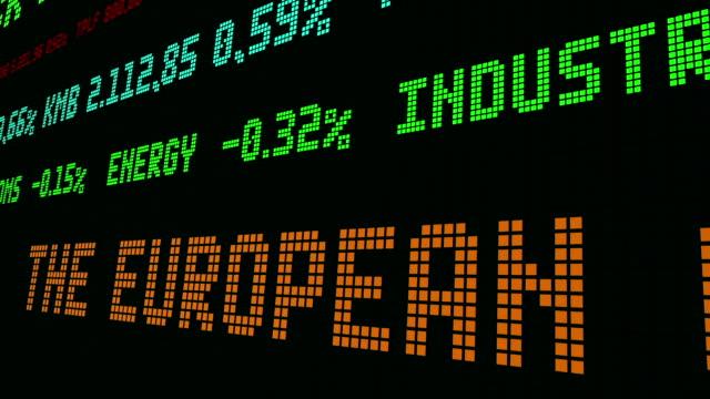 vídeos de stock e filmes b-roll de stock market ticker the european currency slid - nyse crash