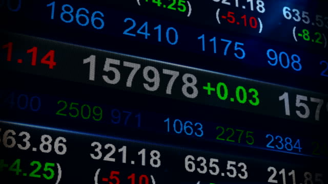 Stock Market de cotización (Ticker) - vídeo