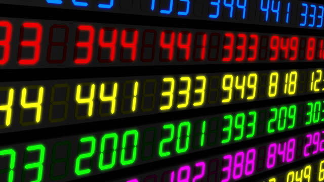 Stock Market Tickers. Blue-Orange and Red-Green..