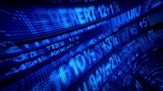 Stock Market Tickers Data Vortex video