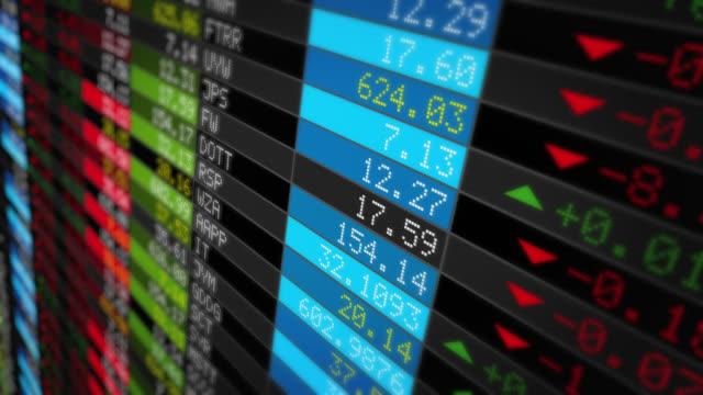 фондовый рынок tickers. петли. черный. - табло котировок стоковые видео и кадры b-roll