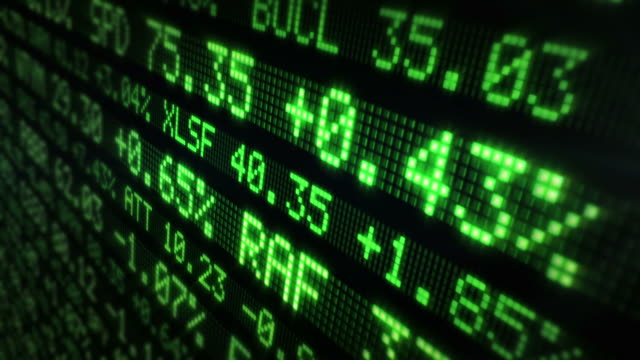 Stock Market Tickers. Loopable. Green. video