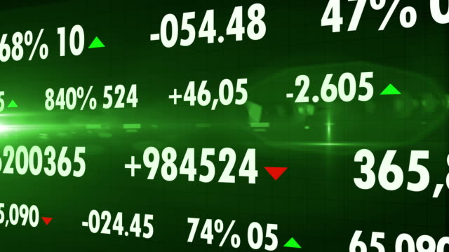 4K Stock Market Tickers. Loopable