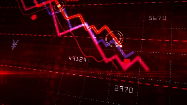 aktienkurse nach unten - inflation stock-videos und b-roll-filmmaterial