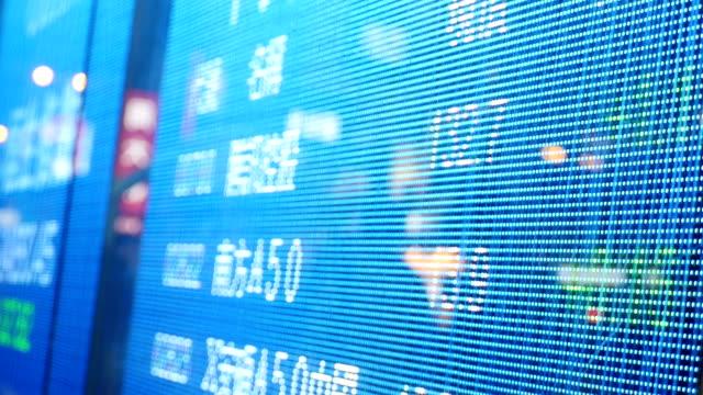 lager oder geldwechsel bord auf der straße von hongkong - china stock-videos und b-roll-filmmaterial