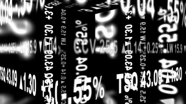 Stock Ticker Geometry - Seamlessly Looping video