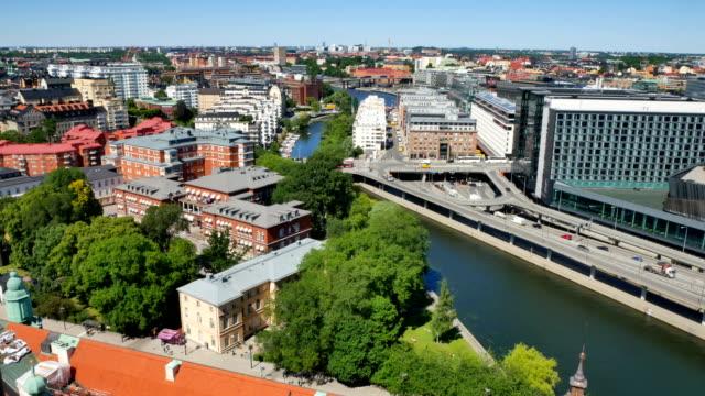Stockhol city at summer video
