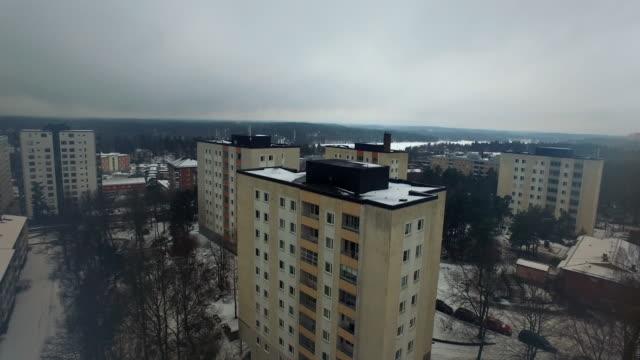 antenn: stockholm, en vinterdag - stockholm bildbanksvideor och videomaterial från bakom kulisserna