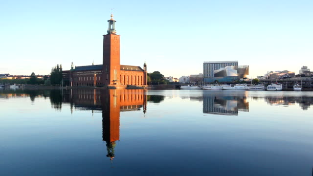 Stockholm city and cityhall video