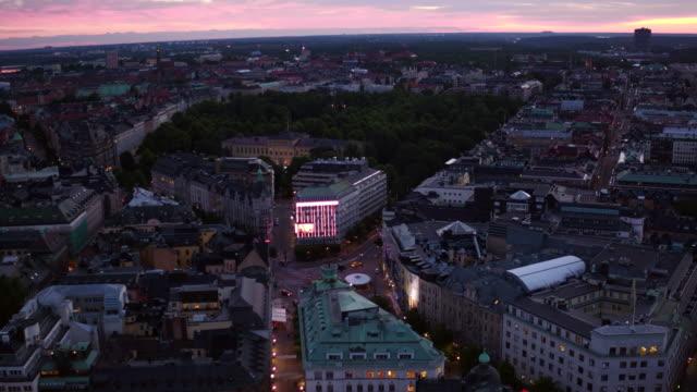 antenn: stockholm city som solen stiger - stockholm bildbanksvideor och videomaterial från bakom kulisserna
