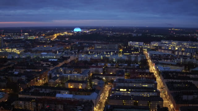 antenn: stockholm city nattetid - stockholm bildbanksvideor och videomaterial från bakom kulisserna