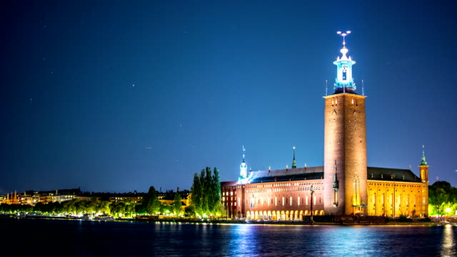 Stockholm City Hall Time Lapse