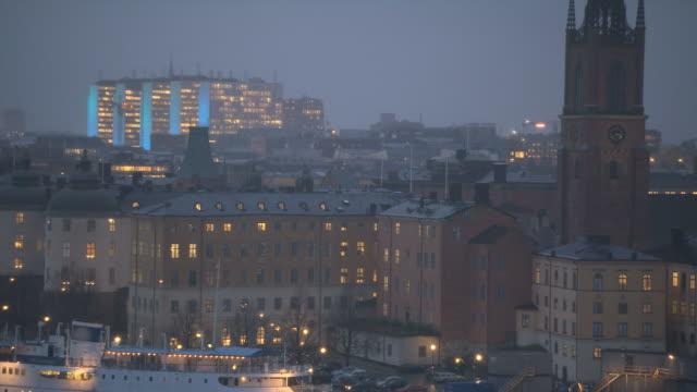 Stockholm City in Fog. video