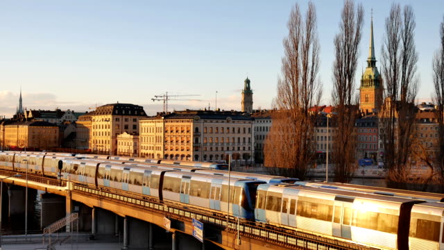 Stockholm city in sunset video