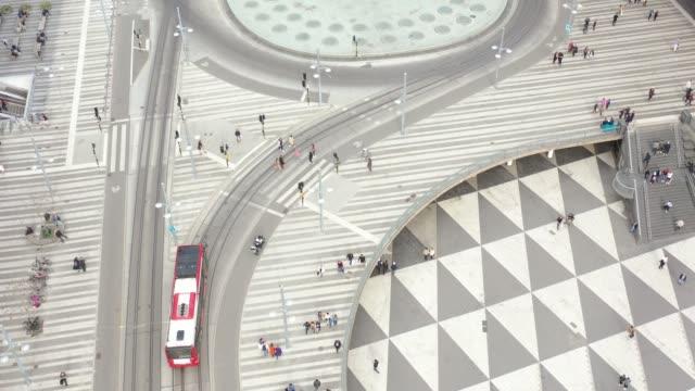 stockholms stad sedd uppifrån, stadsbilden, sergels torg - stockholm bildbanksvideor och videomaterial från bakom kulisserna