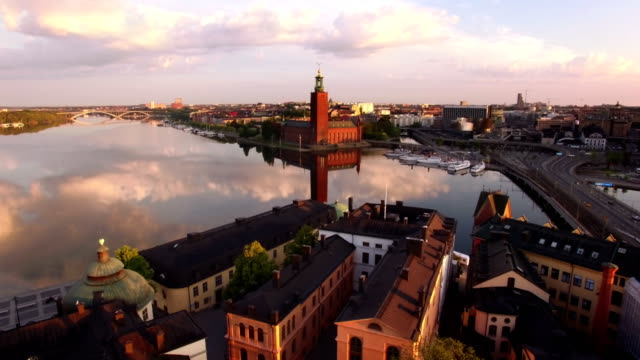Stockholm City Aerial view of Stockholm City stockholm stock videos & royalty-free footage
