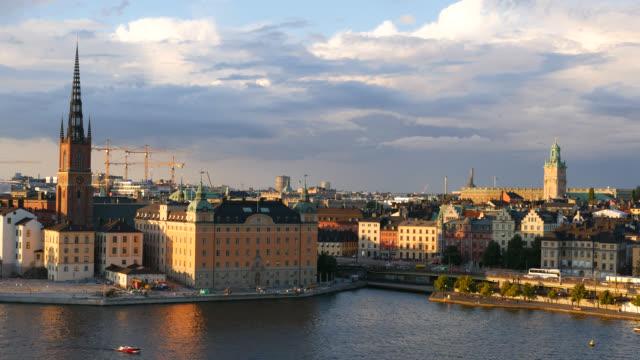 Stockholm cityscape skyline video