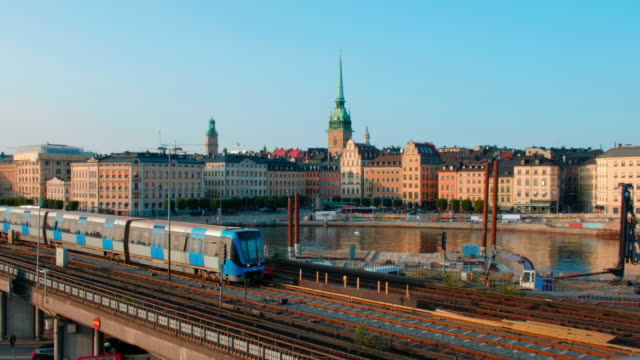 Stockholm Cityscape Scenic video view of Stockholm cityscape, Sweden stockholm stock videos & royalty-free footage