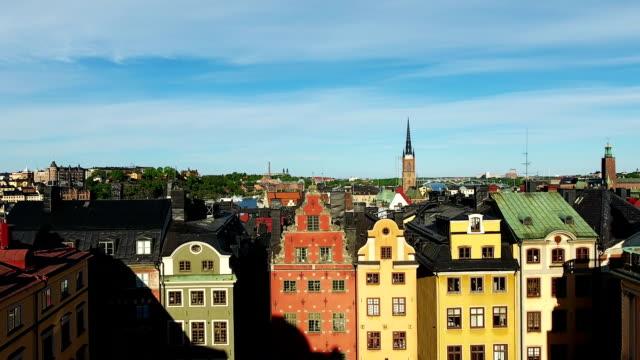 stockholm gamla stan flygfoto - stockholm bildbanksvideor och videomaterial från bakom kulisserna