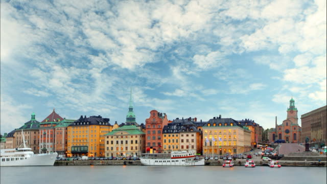 Stockholm - Old Town, Time lapse Stockholm - Old Town, Time lapse stockholm stock videos & royalty-free footage