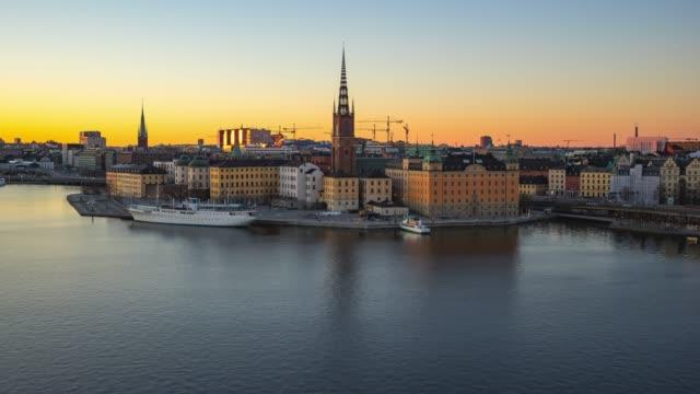 stockholm skyline dag för natt tid förfaller i stockholm city, sverige - stockholm bildbanksvideor och videomaterial från bakom kulisserna