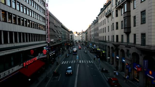 Stockholm Street City street in Stockholm, Sweden office park stock videos & royalty-free footage