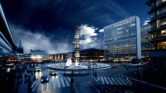 Stockholm Time Lapse Time lapse in the center of Stockholm, Sergelstorg. stockholm stock videos & royalty-free footage