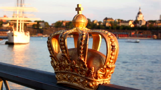 stockholm view with crown video