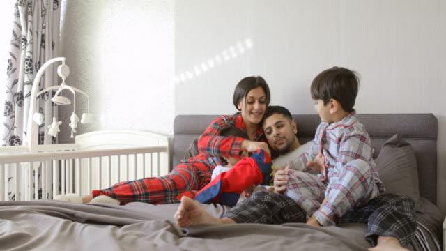 stockings before main presents - pajamas stock videos & royalty-free footage