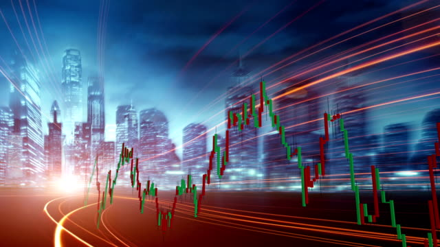 stock-market and  real economy - candeliere video stock e b–roll